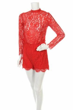 Дамски гащеризон H&M, Размер XS, Цвят Червен, 57% памук, 43% полиамид, Цена 12,80лв.
