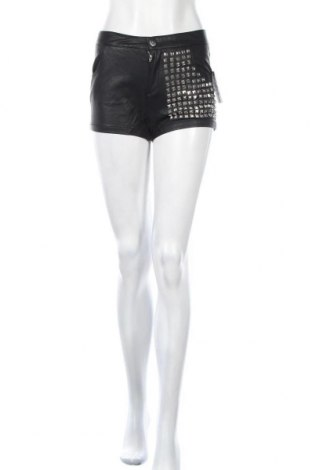 Γυναικείο κοντό δερμάτινο παντελόνι Alcott, Μέγεθος S, Χρώμα Μαύρο, Δερματίνη, Τιμή 11,37€