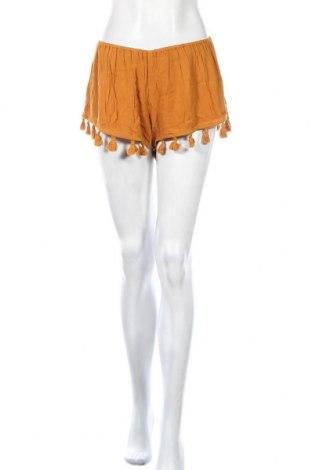 Γυναικείο κοντό παντελόνι Le Temps Des Cerises, Μέγεθος M, Χρώμα Κίτρινο, Βισκόζη, Τιμή 7,44€