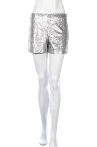 Γυναικείο κοντό παντελόνι Mango, Μέγεθος S, Χρώμα Ασημί, 80% πολυεστέρας, 20% βαμβάκι, Τιμή 11,34€