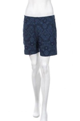 Дамски къс панталон Versace Jeans, Размер L, Цвят Син, 70% памук, 26% полиамид, 4% еластан, Цена 37,44лв.