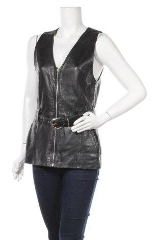 Дамски кожен елек Gipsy, Размер S, Цвят Черен, Естествена кожа, Цена 69,83лв.