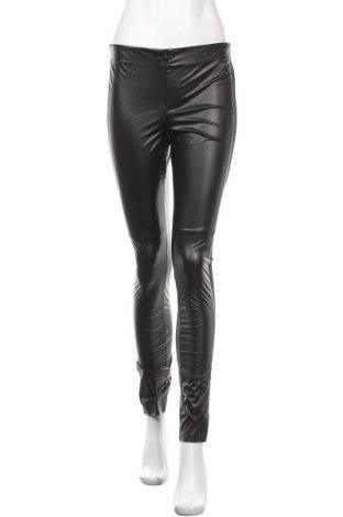 Дамски кожен панталон La Mode Est A Vous, Размер M, Цвят Черен, Еко кожа, 58% полиестер, 42% полиуретан, Цена 20,70лв.