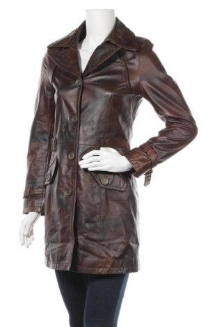 Дамски кожен шлифер Gipsy, Размер S, Цвят Кафяв, Естествена кожа, Цена 89,78лв.