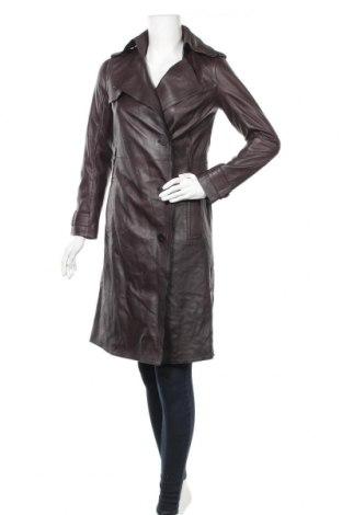Γυναικεία δερμάτινη καμπαρντίνα Massimo Dutti, Μέγεθος XS, Χρώμα Καφέ, Γνήσιο δέρμα, Τιμή 82,27€