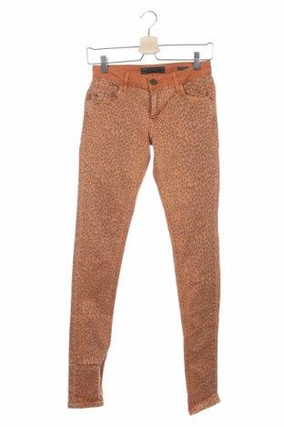 Дамски панталон, Размер S, Цвят Оранжев, 97% памук, 3% еластан, Цена 18,48лв.