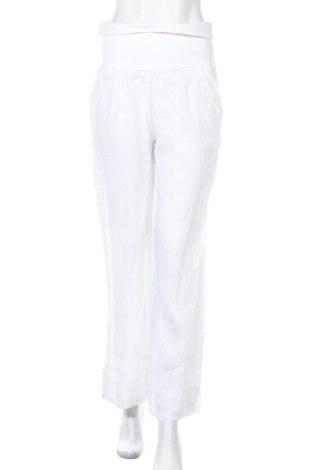 Дамски панталон, Размер L, Цвят Бял, Лен, Цена 51,75лв.