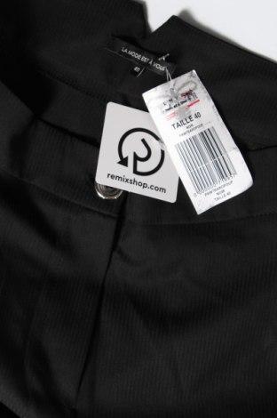 Дамски панталон La Mode Est A Vous, Размер M, Цвят Черен, 75% полиестер, 21% вискоза, 4% еластан, Цена 38,70лв.