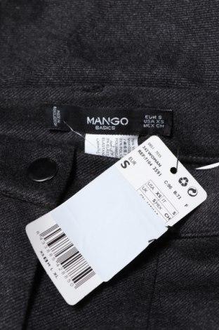 Дамски панталон Mango, Размер S, Цвят Сив, 76% вискоза, 21% полиамид, 3% еластан, Цена 17,25лв.