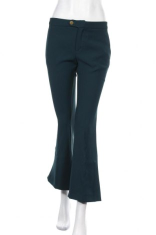 Дамски панталон Mango, Размер S, Цвят Зелен, Полиестер, Цена 20,54лв.