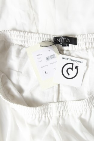 Дамски панталон Nitya, Размер L, Цвят Бял, Полиестер, Цена 38,40лв.