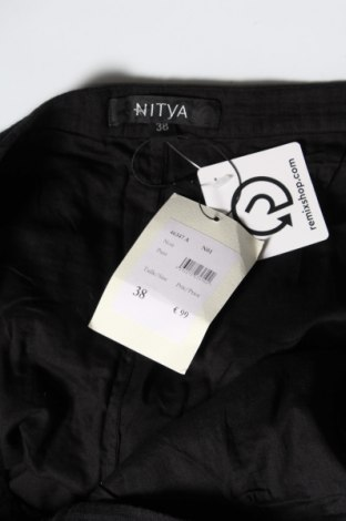 Дамски панталон Nitya, Размер M, Цвят Черен, Памук, Цена 15,80лв.
