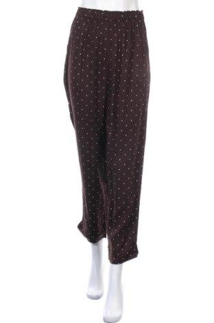 Дамски панталон Oysho, Размер S, Цвят Кафяв, Вискоза, Цена 34,10лв.