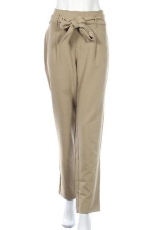 Γυναικείο παντελόνι Pieces, Μέγεθος L, Χρώμα Πράσινο, 79% πολυεστέρας, 16% βισκόζη, 5% ελαστάνη, Τιμή 15,21€