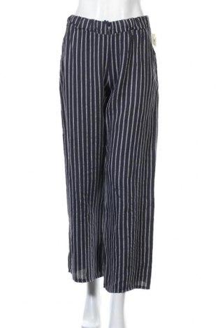 Дамски панталон Puro Lino, Размер M, Цвят Син, Лен, Цена 44,25лв.