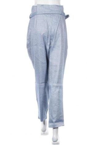 Дамски панталон Sienna, Размер L, Цвят Син, 53% лен, 30% полиестер, 15% вискоза, 2% еластан, Цена 27,36лв.
