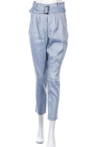 Дамски панталон Sienna, Размер XS, Цвят Син, 53% лен, 30% полиестер, 15% вискоза, 2% еластан, Цена 26,40лв.