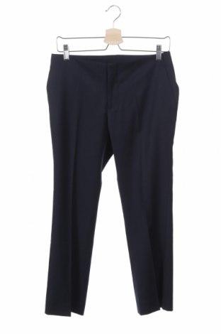 Дамски панталон Stefanel, Размер XS, Цвят Син, 63% полиестер, 35% вълна, 2% еластан, Цена 23,52лв.