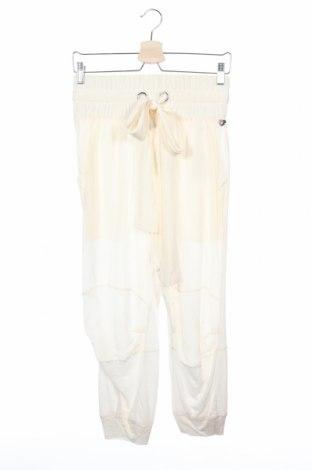 Дамски панталон TWINSET, Размер XS, Цвят Екрю, Коприна, Цена 67,05лв.