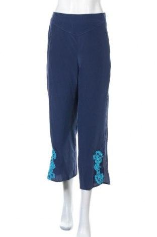 Дамски панталон TWINSET, Размер S, Цвят Син, Коприна, Цена 66,15лв.