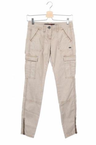Дамски панталон Tom Tailor, Размер XS, Цвят Бежов, 97% памук, 3% еластан, Цена 15,84лв.