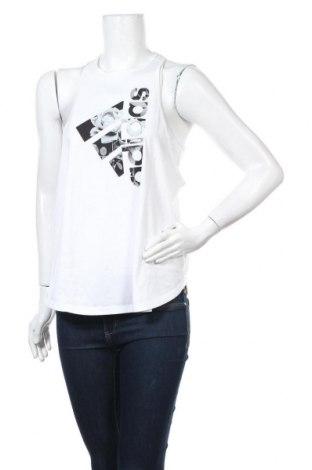 Γυναικείο αμάνικο μπλουζάκι Adidas, Μέγεθος L, Χρώμα Λευκό, Βαμβάκι, Τιμή 12,14€
