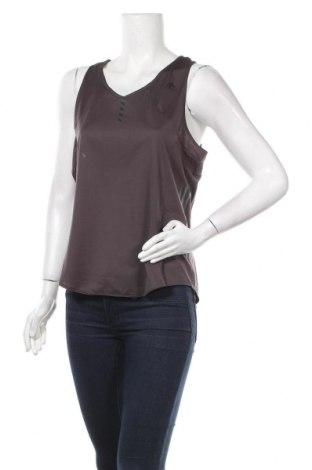 Γυναικείο αμάνικο μπλουζάκι Adidas, Μέγεθος L, Χρώμα Γκρί, Πολυεστέρας, Τιμή 13,68€