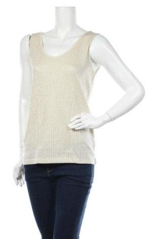Γυναικείο αμάνικο μπλουζάκι Petit Bateau, Μέγεθος S, Χρώμα  Μπέζ, 69% βαμβάκι, 20% βισκόζη, 11% πολυεστέρας, Τιμή 11,40€