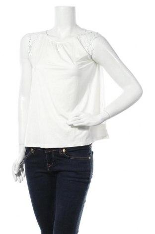 Γυναικείο αμάνικο μπλουζάκι Soya Concept, Μέγεθος M, Χρώμα Λευκό, 93% lyocell, 7% ελαστάνη, Τιμή 10,83€