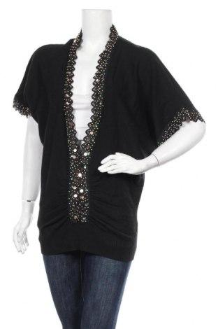 Дамски пуловер Woodpecker, Размер L, Цвят Черен, Памук, Цена 6,04лв.