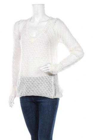 Γυναικείο πουλόβερ, Μέγεθος M, Χρώμα Λευκό, 55%ακρυλικό, 30% πολυαμίδη, 15% μοχαίρ, Τιμή 5,23€