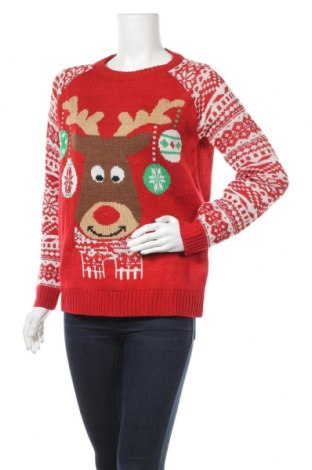 Γυναικείο πουλόβερ, Μέγεθος XS, Χρώμα Κόκκινο, 100%ακρυλικό, Τιμή 5,91€