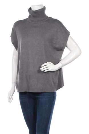 Γυναικείο πουλόβερ Ajc, Μέγεθος S, Χρώμα Γκρί, 50% βαμβάκι, 50% πολυακρυλικό, Τιμή 5,91€