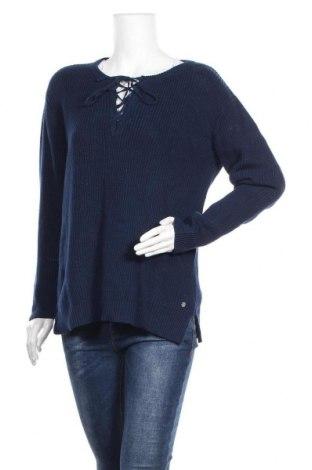 Γυναικείο πουλόβερ Carla F., Μέγεθος XL, Χρώμα Μπλέ, Βαμβάκι, Τιμή 31,18€
