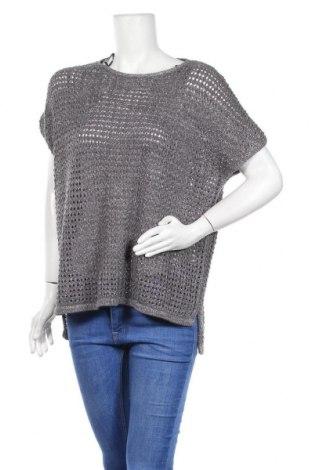 Дамски пуловер Charles Vogele, Размер L, Цвят Сив, 87% памук, 8% полиестер, 5% метални нишки, Цена 7,00лв.