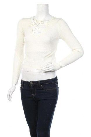 Γυναικείο πουλόβερ H&M Divided, Μέγεθος S, Χρώμα Εκρού, 40%ακρυλικό, 40% βισκόζη, 20% πολυαμίδη, Τιμή 17,90€