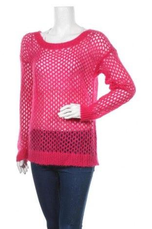 Дамски пуловер IKKS, Размер XL, Цвят Розов, 50% полиамид, 50% мохер, Цена 7,36лв.