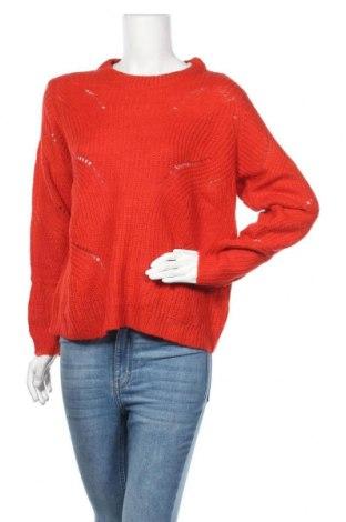 Дамски пуловер Jacqueline De Yong, Размер L, Цвят Червен, 100% акрил, Цена 15,34лв.