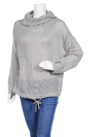 Γυναικείο πουλόβερ Janina, Μέγεθος L, Χρώμα Γκρί, Πολυακρυλικό, Τιμή 15,43€