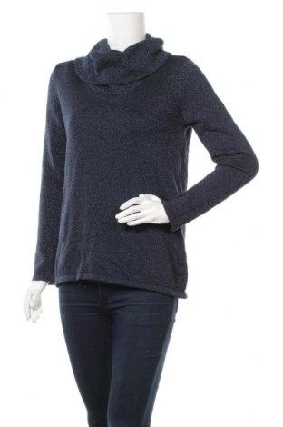 Γυναικείο πουλόβερ Jones New York, Μέγεθος L, Χρώμα Μπλέ, 80% βαμβάκι, 13% πολυεστέρας, 7% μεταλλικά νήματα, Τιμή 12,50€