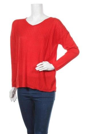 Дамски пуловер La Fiancee Du Mekong, Размер M, Цвят Червен, 60% вискоза, 40% памук, Цена 17,25лв.