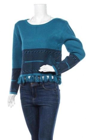 Дамски пуловер La Fiancee Du Mekong, Размер M, Цвят Син, Вискоза, полиестер, полиамид, Цена 24,00лв.
