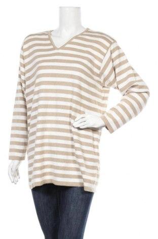 Дамски пуловер Lab, Размер L, Цвят Бежов, 65% памук, 35% акрил, Цена 13,90лв.