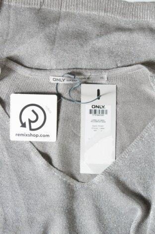 Γυναικείο πουλόβερ ONLY, Μέγεθος XS, Χρώμα Γκρί, 80% βισκόζη, 20% μεταλλικά νήματα, Τιμή 10,04€