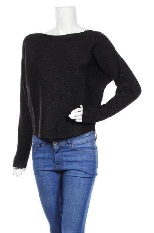Γυναικείο πουλόβερ Opus, Μέγεθος S, Χρώμα Μαύρο, 45%ακρυλικό, 32% πολυεστέρας, 16% πολυαμίδη, 7% μεταλλικά νήματα, Τιμή 37,11€