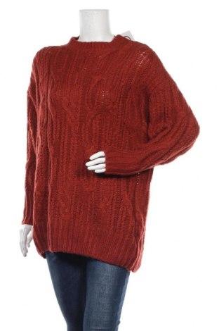 Γυναικείο πουλόβερ Pull&Bear, Μέγεθος M, Χρώμα Πορτοκαλί, 90%ακρυλικό, 10% μαλλί, Τιμή 22,43€