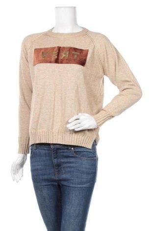Γυναικείο πουλόβερ Shein, Μέγεθος M, Χρώμα  Μπέζ, 15% ελαστάνη, 85% πολυεστέρας, Τιμή 19,12€