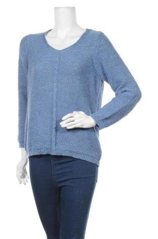 Γυναικείο πουλόβερ Walbusch, Μέγεθος L, Χρώμα Μπλέ, 57% πολυεστέρας, 38% βαμβάκι, 5% μεταλλικά νήματα, Τιμή 16,01€