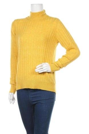 Дамски пуловер Y.A.S, Размер S, Цвят Жълт, 60% полиестер, 15% полиамид, 13% акрил, 7% вълна, Цена 42,00лв.