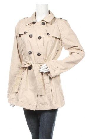 Дамски шлифер Tchibo, Размер L, Цвят Бежов, Памук, Цена 23,31лв.